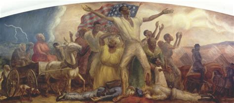 lincoln freeing the slaves uw curry mural tells forgotten emancipation story