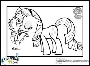 rarity kissing spike   pony coloring