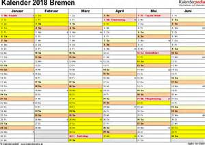 Kalender 2018 Pdf Bremen Kalender 2018 Bremen Ferien Feiertage Pdf Vorlagen