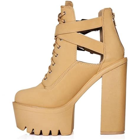 beige high heel boots beige cut out high heel ankle boots parisia fashion