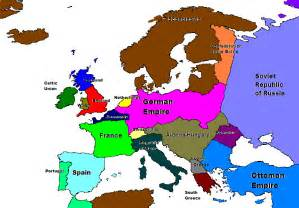 Map Of Europe 1918 by World War I Early Colonization Alternative History