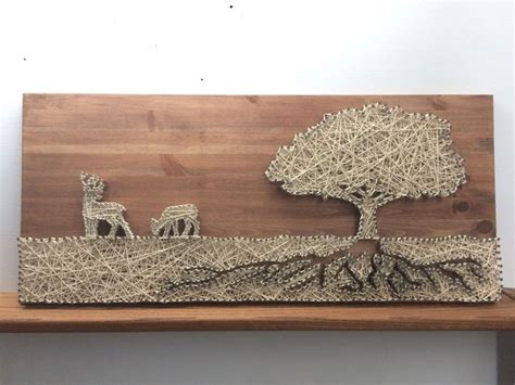 Tree String Pattern - string of 2 deers tree and roots made by me and my