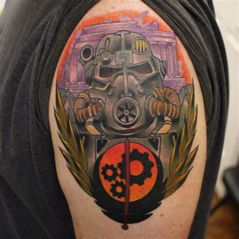 brotherhood of steel tattoo fallout designs 26 pictures of fallout tattoos
