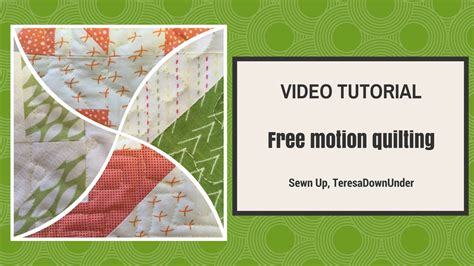 video tutorial quilting free motion quilting video tutorial youtube