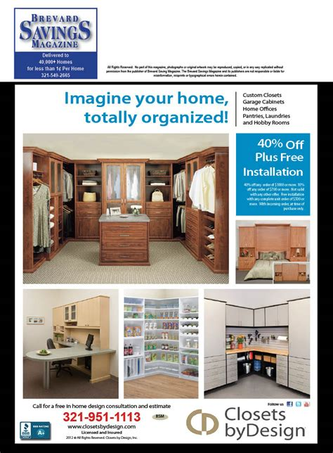 Closets By Design Coupon by Brevard County Coupons Savings Services Magazine