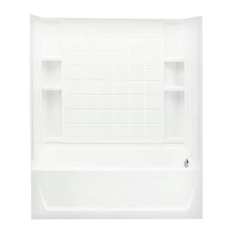 sterling bathtub surrounds sterling ensemble 18 in h x 32 in w x 60 in l white