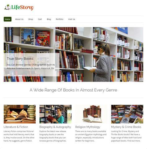 story website themes 4 best bookstore wordpress themes 2018 free bonus