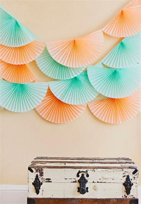 How To Make Paper Bunting Garland - wedding garland tissue paper bunting wedding