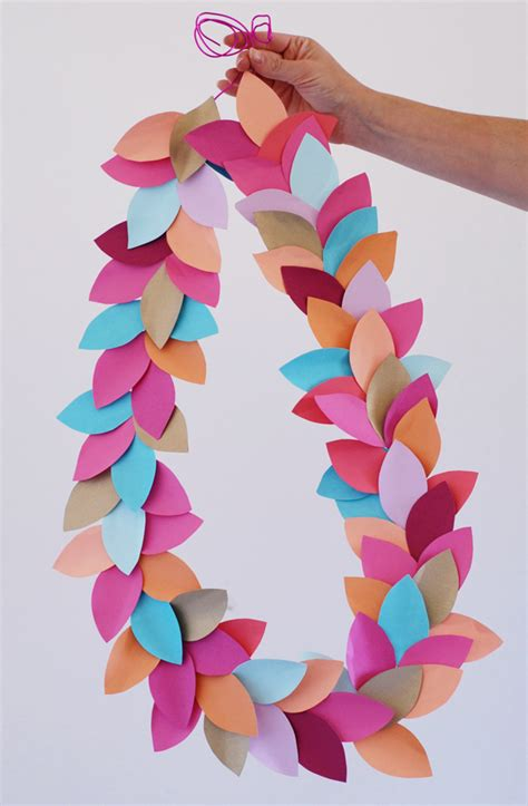 Easy Things To Make Out Of Paper For - diy decor how to make garland craftsy
