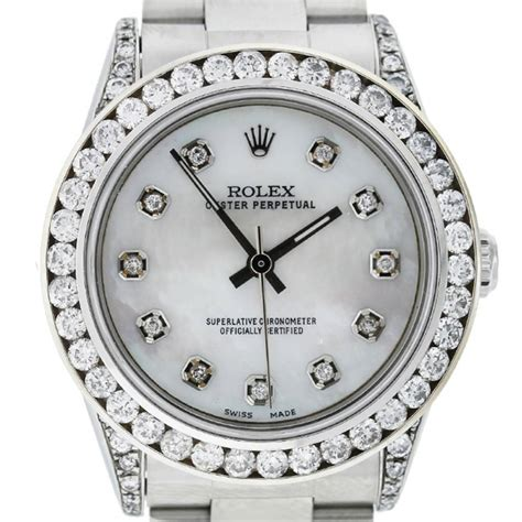 Diskon Rolex Sepasang Gold Cover White rolex 77080 oyster perpetual bezel mid size