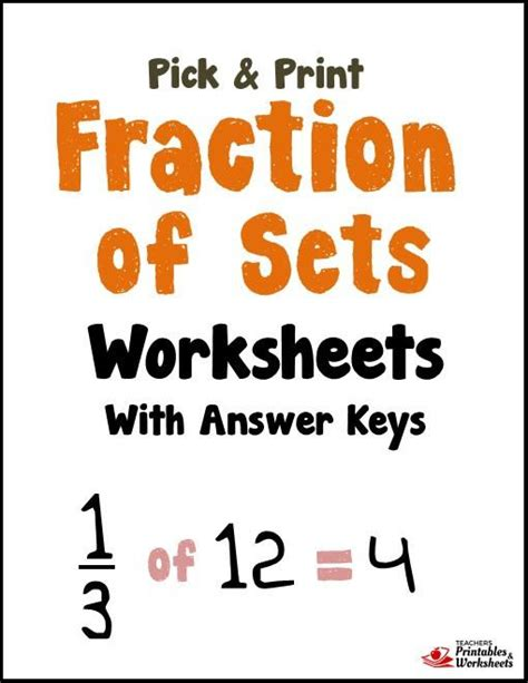Fractions Of A Set Worksheets by Fraction Of Sets Worksheets Printables Worksheets