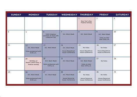 sample planning calendar templates   sample templates