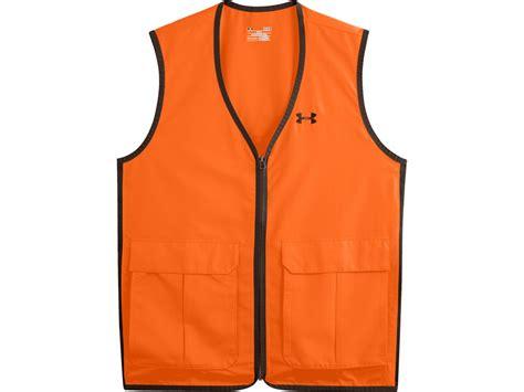 vest orange armour s antler logo safety vest polyester blaze