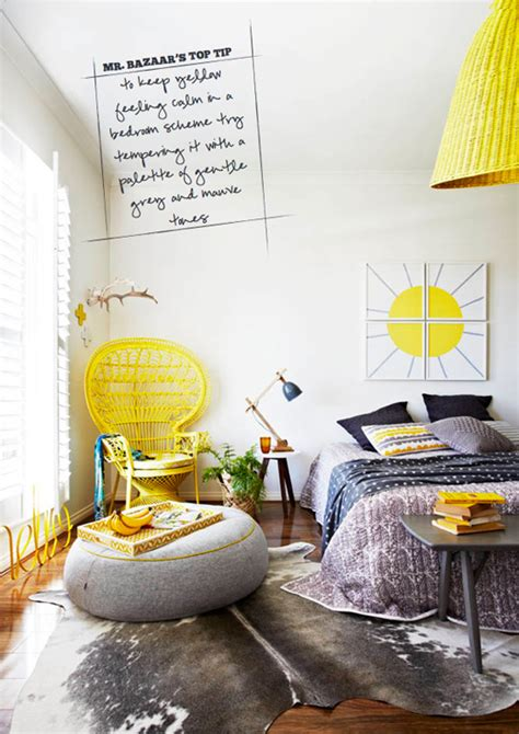 grey and yellow bedroom decor sneak peek inside out magazine april 2013 bright