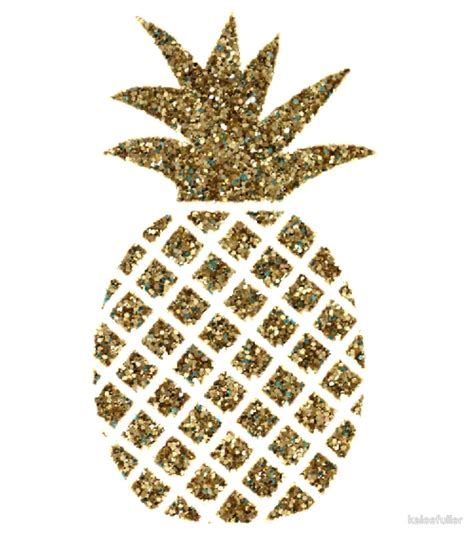 Wall Sticker Baby quot gold glitter pineapple quot by kaleefuller redbubble
