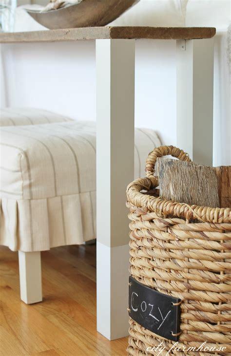diy barnwood sofa table the easiest diy reclaimed wood sofa table city farmhouse