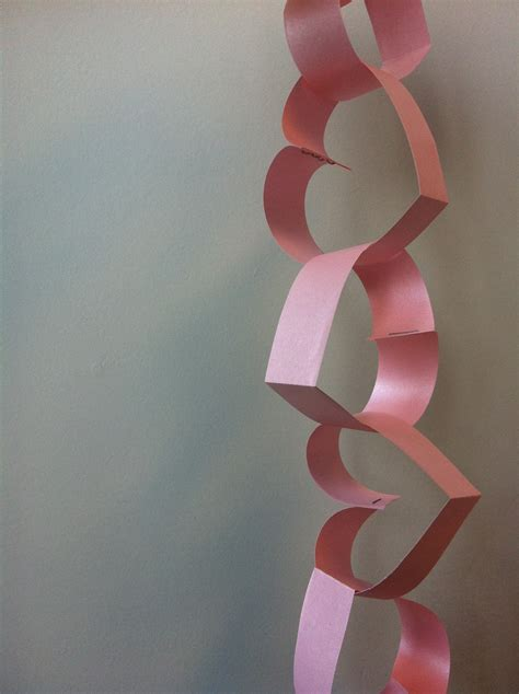 How To Make A Chain Of Hearts Out Of Paper - the contemplative creative paper chain