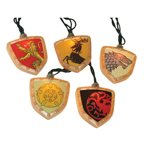 celebrate the holidays westeros style with 23 game of game of thrones house crest christmas lights