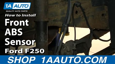 install replace front abs sensor   excursion