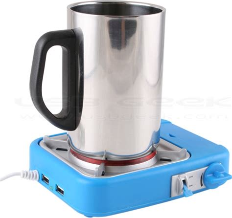 Hubbacino Usb Hub And Cup Warmer by Usb Gas Stove Cup Warmer With 2 Port Hub
