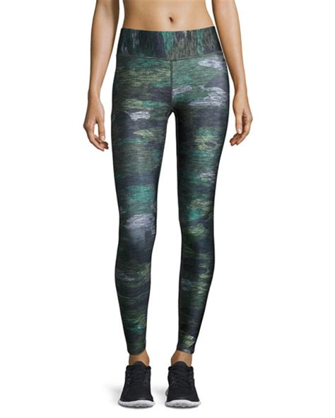 patterned tights tall terez tall band heathered camo performance leggings