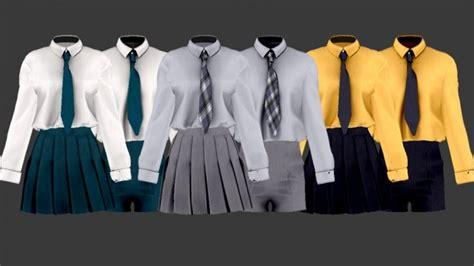 school uniform set  shendori sims sims  updates