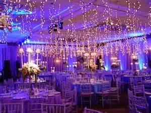 Blue Paisley Drapes Wedding Reception Lighting Royal Blue And Purple