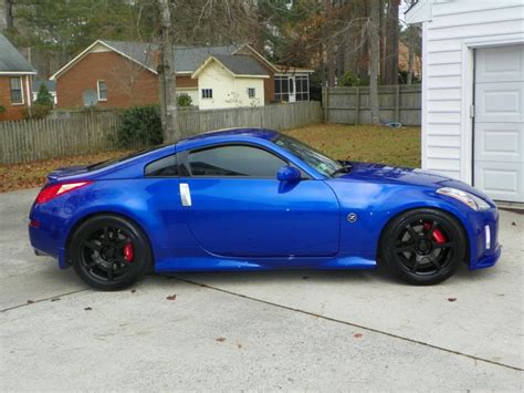 blue nissan 350z with black rims 2003 daytona blue 350z touring nismo 2009 platinum