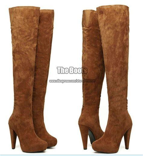 thigh high brown boots cr boot