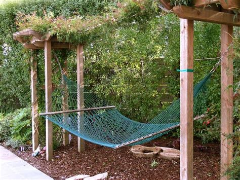 how to a to outside only hammock with vine screening garden and backyard ideas pin