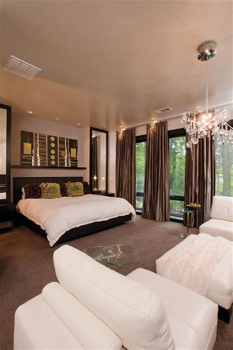 modern glam modern bedroom atlanta  burns century interior design