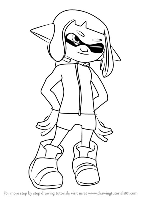 Splatoon 2 Sketches by Step By Step How To Draw 4 From Splatoon 2