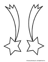 coloring page of a shooting star star template shooting star cut and color for night sky
