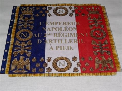 libro lme de napolon french napoleonic flag french 2nd artillery regiment flag 1812 350 euros napoleon and glory