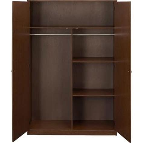 Grayson Armoire by Essential Home Belmont Storage Cabinet Walnut 2