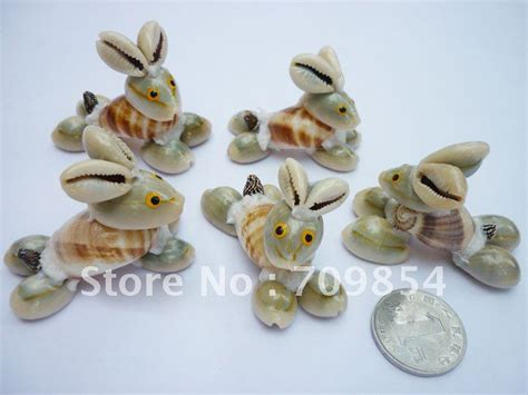 shell crafts for free ship sale rabbit shell crafts for home