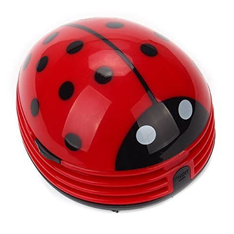 Cute Portable Beetle Ladybug Cartoon Mini Desktop Vacuum Ladybug Desk Accessories