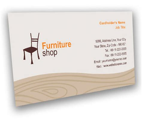 furniture business cards templates business card design for furniture bazaar offset or