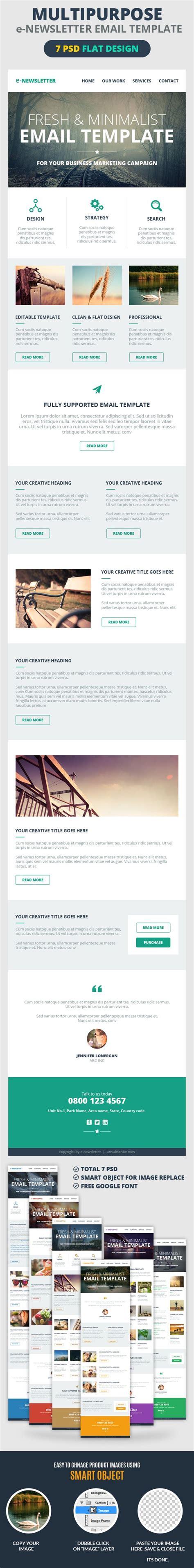 font newsletter design multipurpose e newsletter email template google fonts