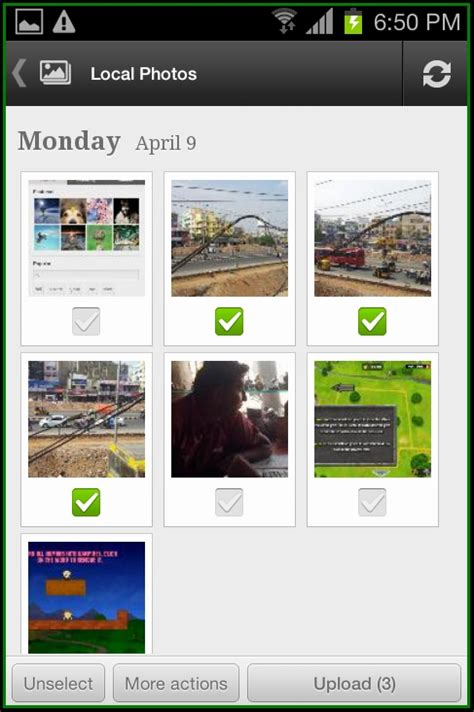 picasa for android how to upload photos to picasa web service from