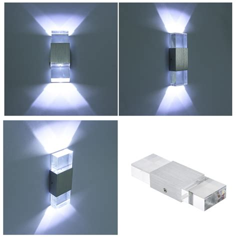 Modern Indoor Wall Lights 2w White Led Wall Up Light Sconce Indoor Living Room