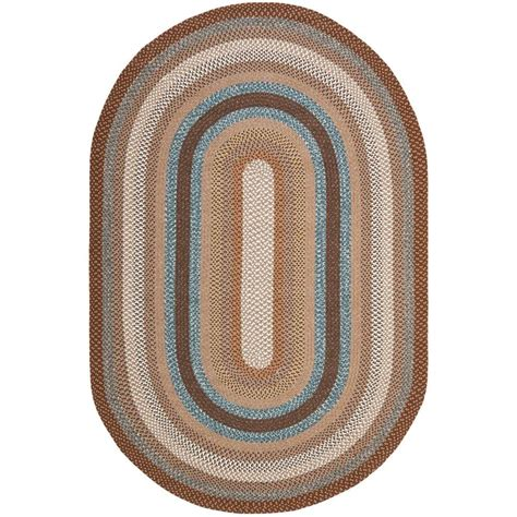 oval rug safavieh braided brown multi 6 ft x 9 ft oval area rug brd313a 6ov the home depot