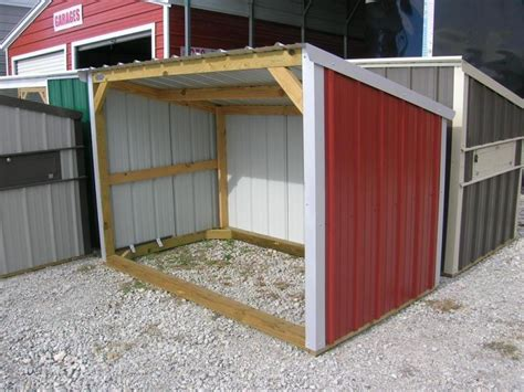 Small Portable Shed 5x8 Wood Frame Mini Loafing Shed Garages Barns