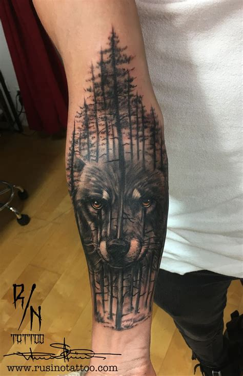 wolf forest tattoo best 25 forest tattoos ideas on tree tattoos