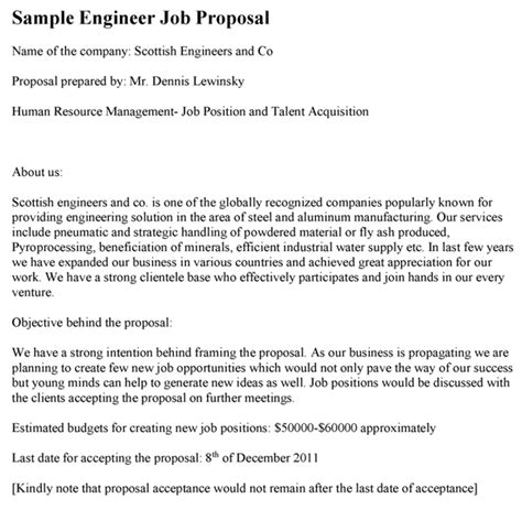 doc 600547 job proposal template bizdoska com