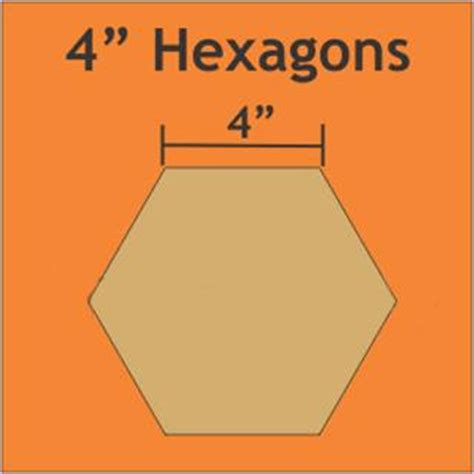 2 inch hexagon template 4 inch paper pieces hexagons pack of 16 templates