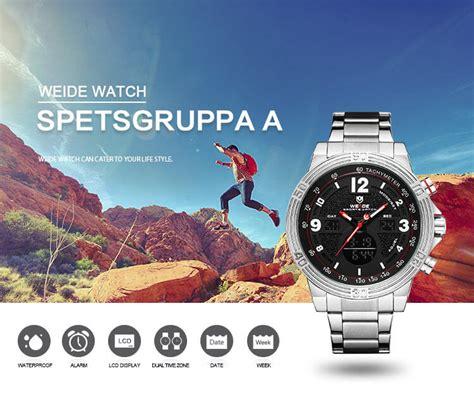 Jam Tangan Weide Original Cocok Digunakan Sehari Hari 6 weide jam tangan analog digital pria wh6908 silver