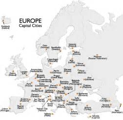 Europe Map Countries And Capitals by Europe Capital Cities Map And Information Page