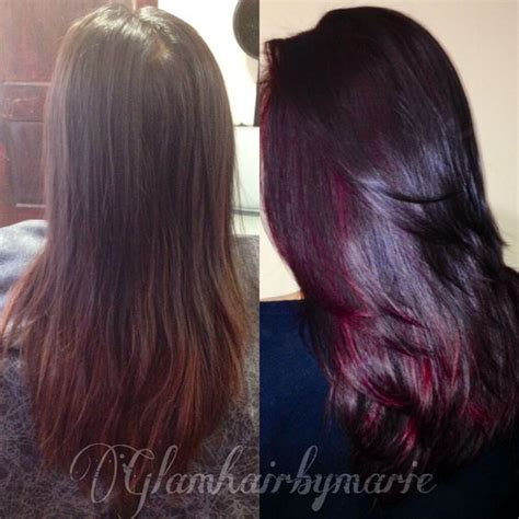 hairstyles with mahogany highlights mahogany and red highlights by glamhairbymarie color
