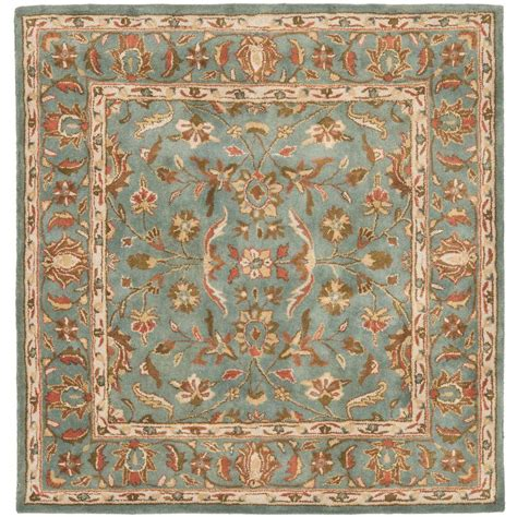 8 x 8 square area rugs safavieh heritage blue 8 ft x 8 ft square area rug hg969a 8sq the home depot